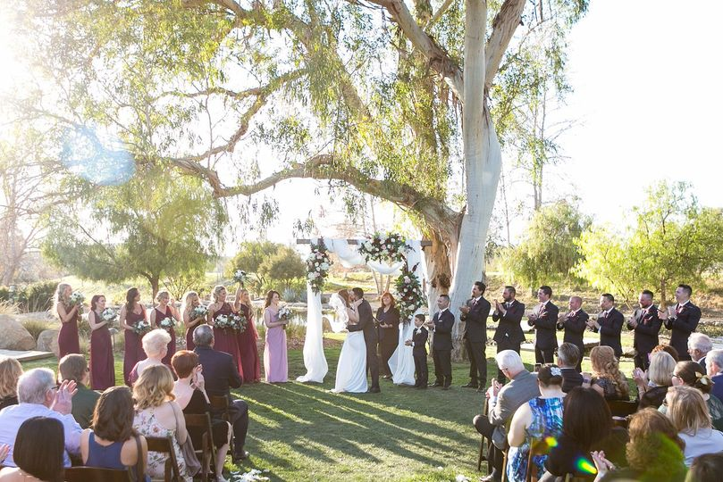 Another stunning photo of Megan and Shawn's beautiful and touching ceremony in Temecula at Galway...