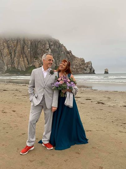 My vow renewal on the beach