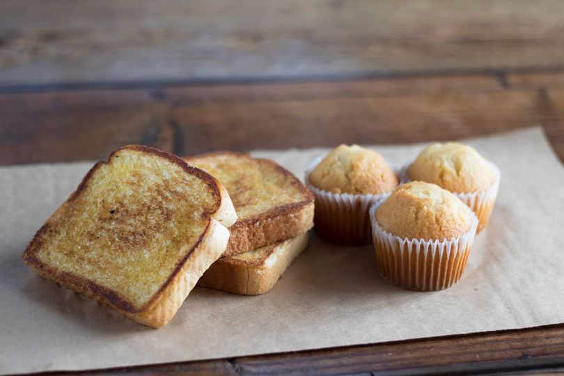 Bread and cupcakes
