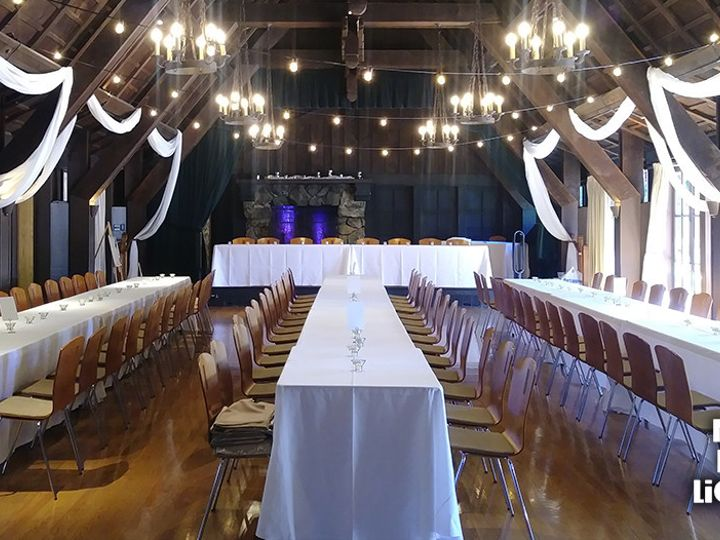 Tmx 1503939744644 Swagging The Outdoor Art Club Marin Event Lighting Mill Valley, California wedding eventproduction