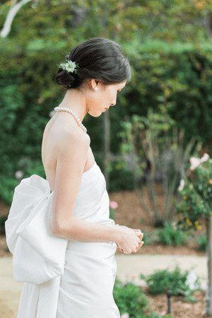 lanving bow wedding dress1