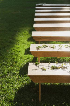 rustic wedding ceremony benches1