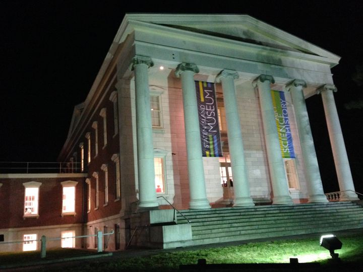 staten island museum at night photo by jan somma h