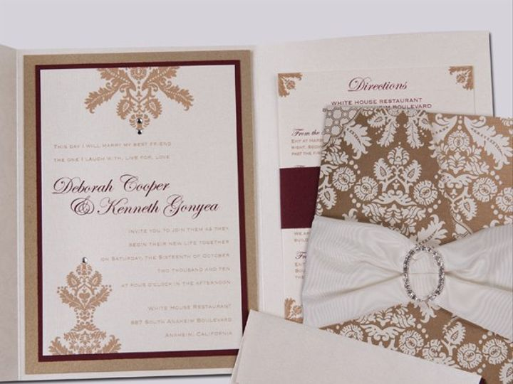 Tmx 1299488233742 PORT3 Buena Park wedding invitation