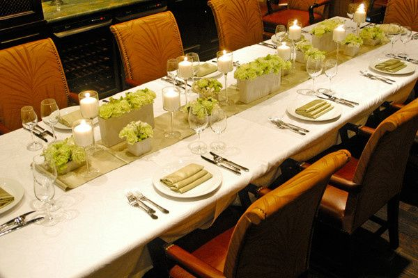 Wedding head table setup