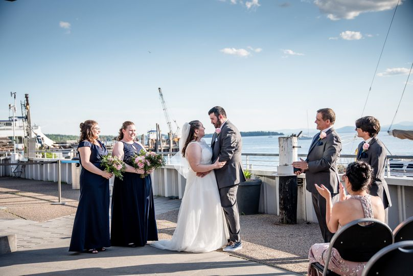 Ceremony on lower deck