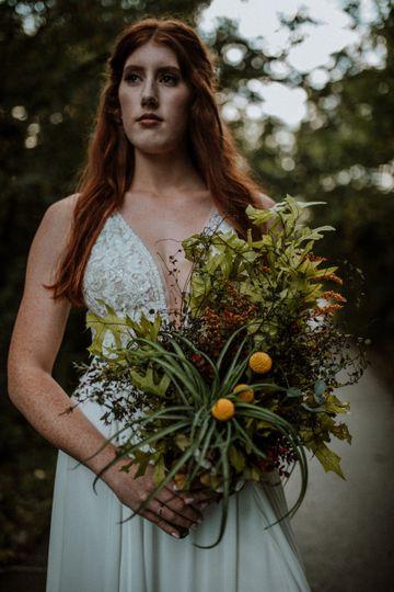 Air plant bridal bouquet