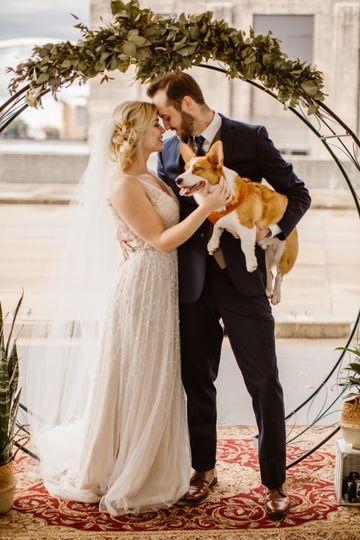Pets at iowa wedding