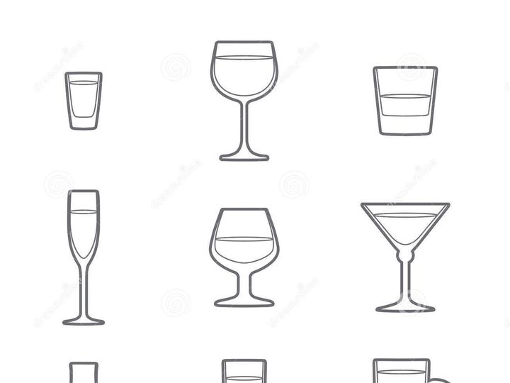 Tmx 1444404344766 Outline Alcohol Glasses Icon Set Vector Grey 45568 Bronx wedding rental