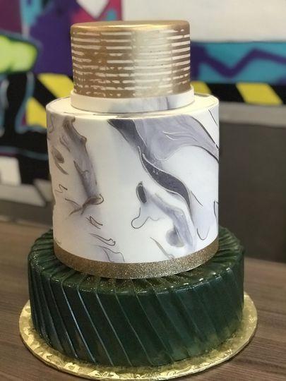 3 Tiered Wedding Cake Fondant