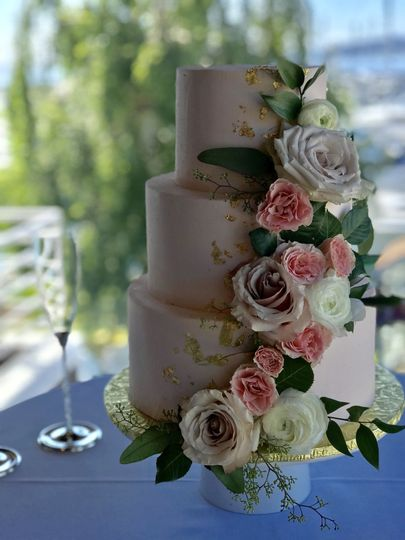 Croquembouche 3 Tiered Wedding Cake