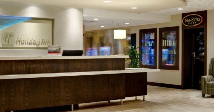 Hotel's reception area