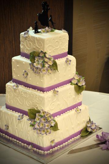 Four-layer wedding cake