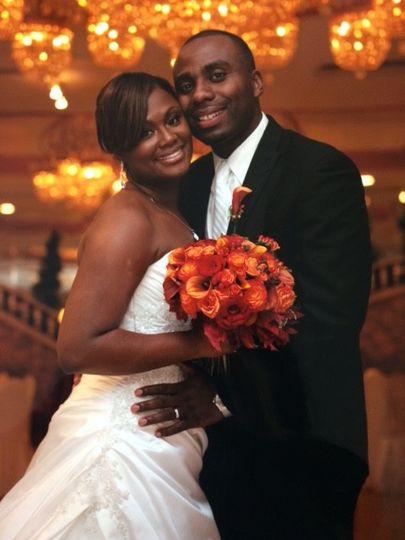 The sweet newlyweds