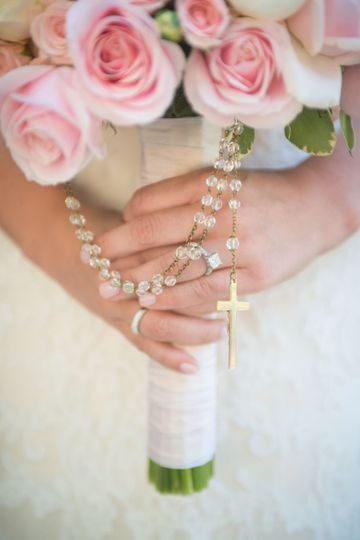 Bouquet with rosary