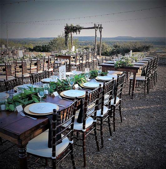 Alder &Mahogany Farm Tables