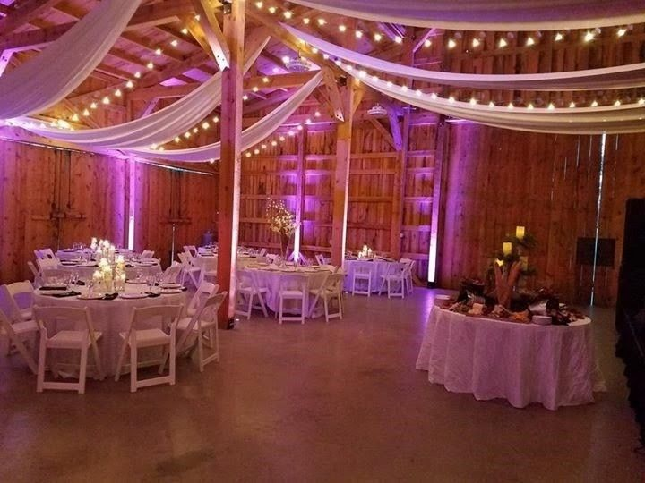 Draped ceiling for event barn