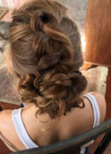 Inverted braid updo