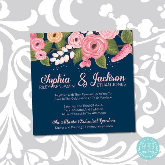 weddinginvitations sophianavy