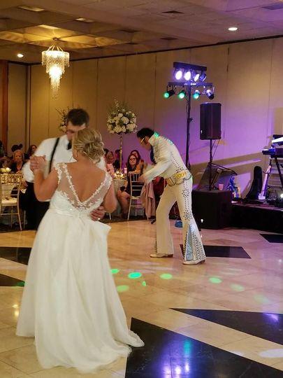 Dancing newlyweds