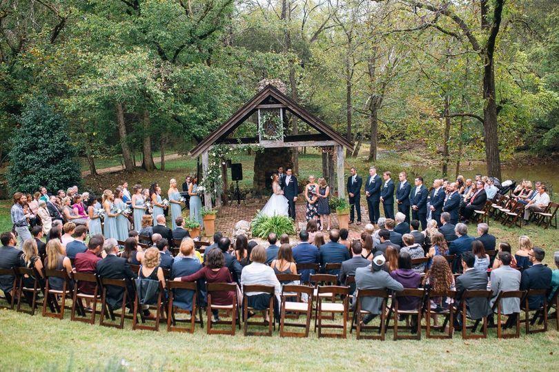 Ceremony Under the Pavilion