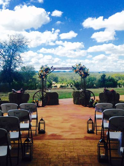 Outside ceremony site