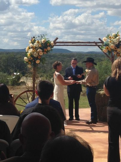 Exchanging their vows