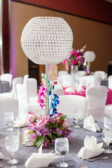crystal globe with flowers 2