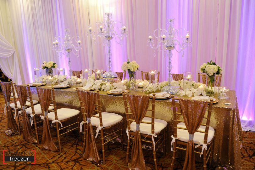 long table chandeliers