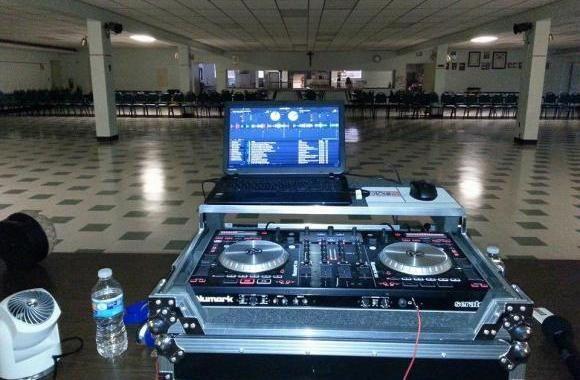 The dj's station