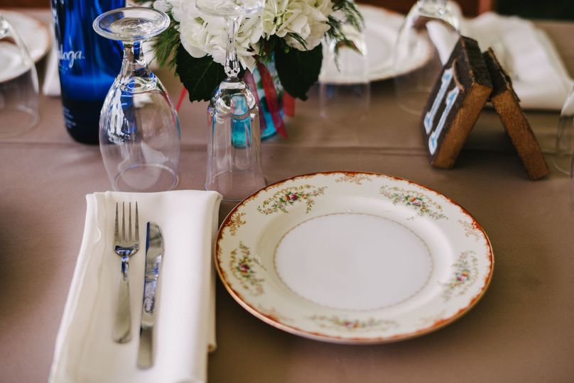 Cutlery, plates, and glassware
