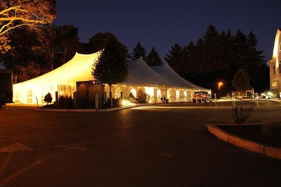 This photo is of a tent we did for a 100th year Gala event at a golf course.