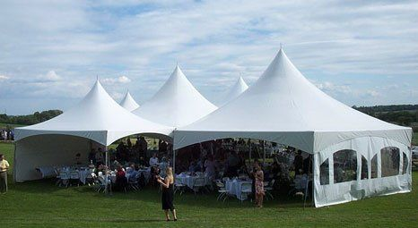 Festival style tents for outdoor vendors.