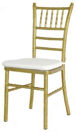 gold aluminum chiavari chair