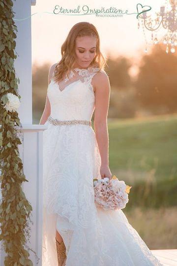 Flower adorned wedding