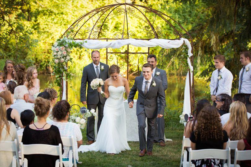 Riverfront wedding