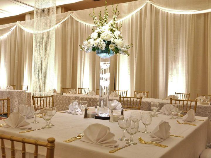 Tmx White Uplighting Onto Ivory Curtain With Valance Crystal Column 51 515796 158859023262656 Lexington, SC wedding eventproduction