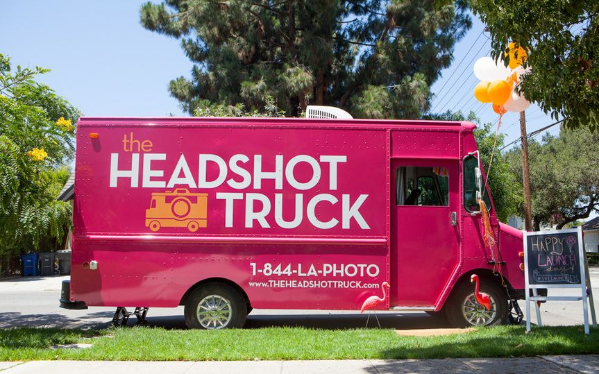 Here's a picture of our truck outside an event.