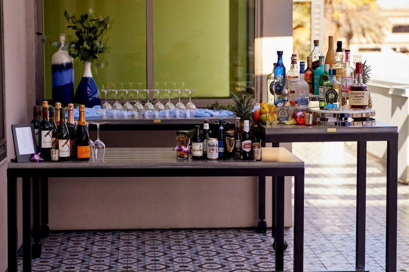 Bar Setup on Pierview Terrace