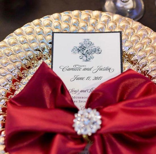 Exquisite invitation setting