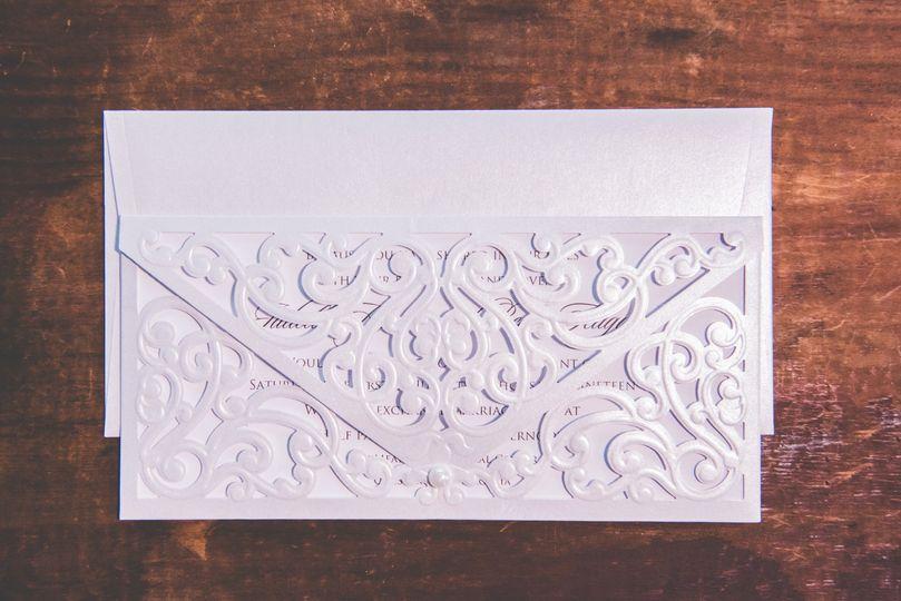 Detailed invitation envelopes