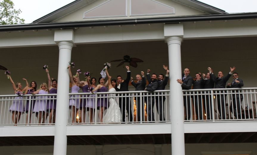 800x800 1430432110281 img0409 bridal party cheering on balcony