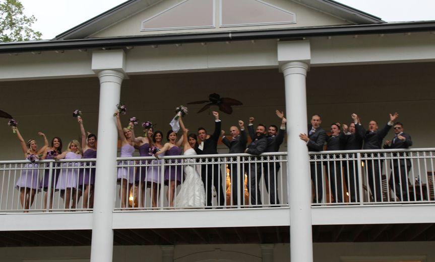 img0409 bridal party cheering on balcony