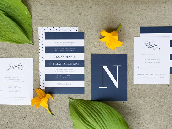 Tmx 1438122782945 Dlvtheinvitationpost05 Forest Lake wedding invitation