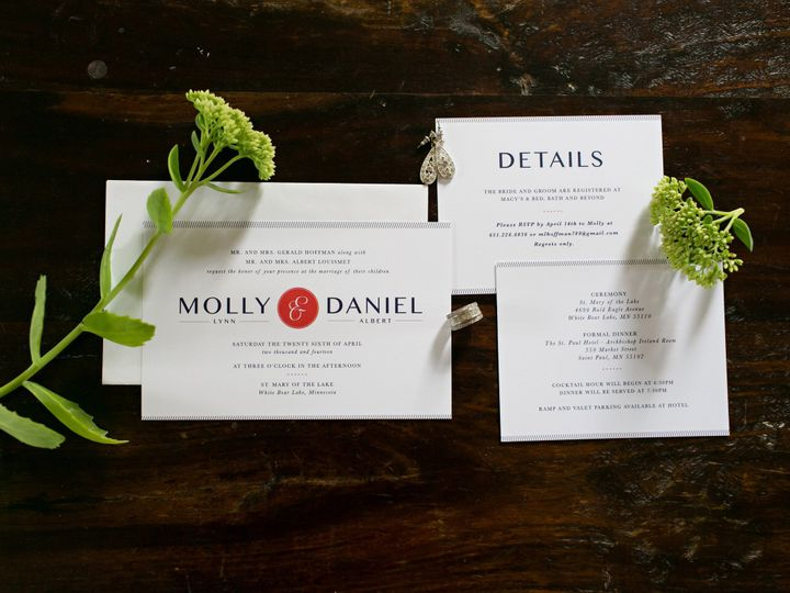 Tmx 1438123002605 Dlvtheinvitationpost18 Forest Lake wedding invitation