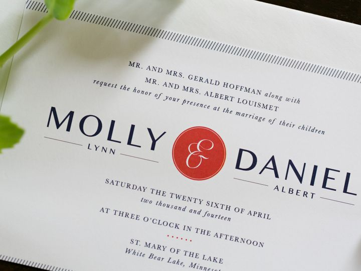 Tmx 1438123038825 Dlvtheinvitationpost19 Forest Lake wedding invitation