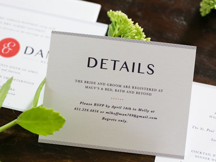 Tmx 1438123077808 Dlvtheinvitationpost20 Forest Lake wedding invitation