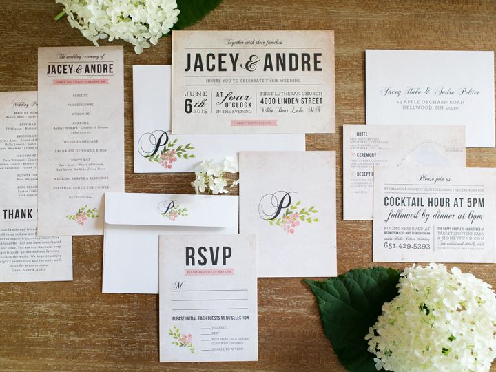 Tmx 1438123211117 Dlvtheinvitationpost30 Forest Lake wedding invitation