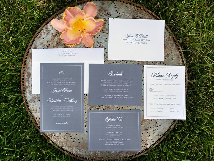 Tmx 1438123503313 Dlvtheinvitationpost42 Forest Lake wedding invitation