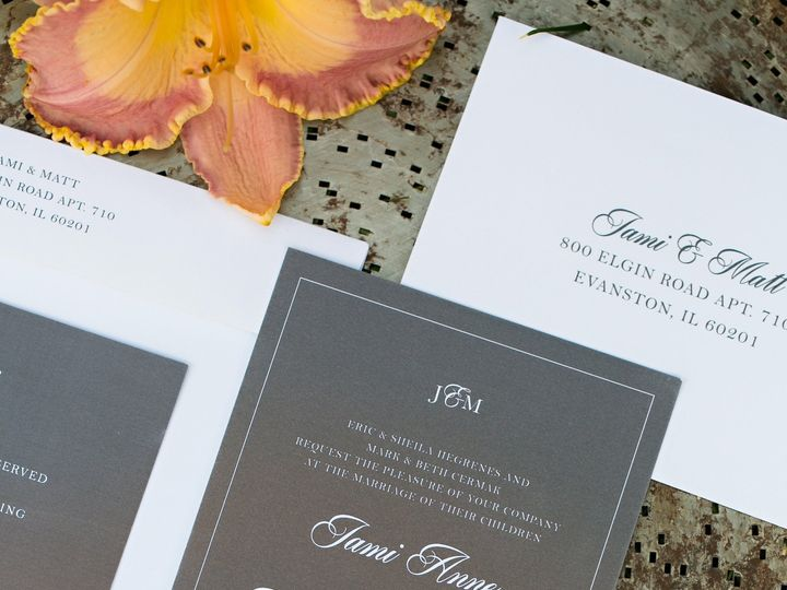 Tmx 1438123548998 Dlvtheinvitationpost46 Forest Lake wedding invitation